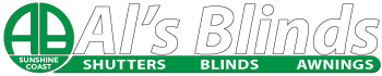 Als Blinds logo reversed