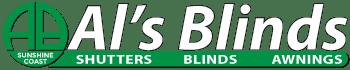 Als Blinds logo reversed