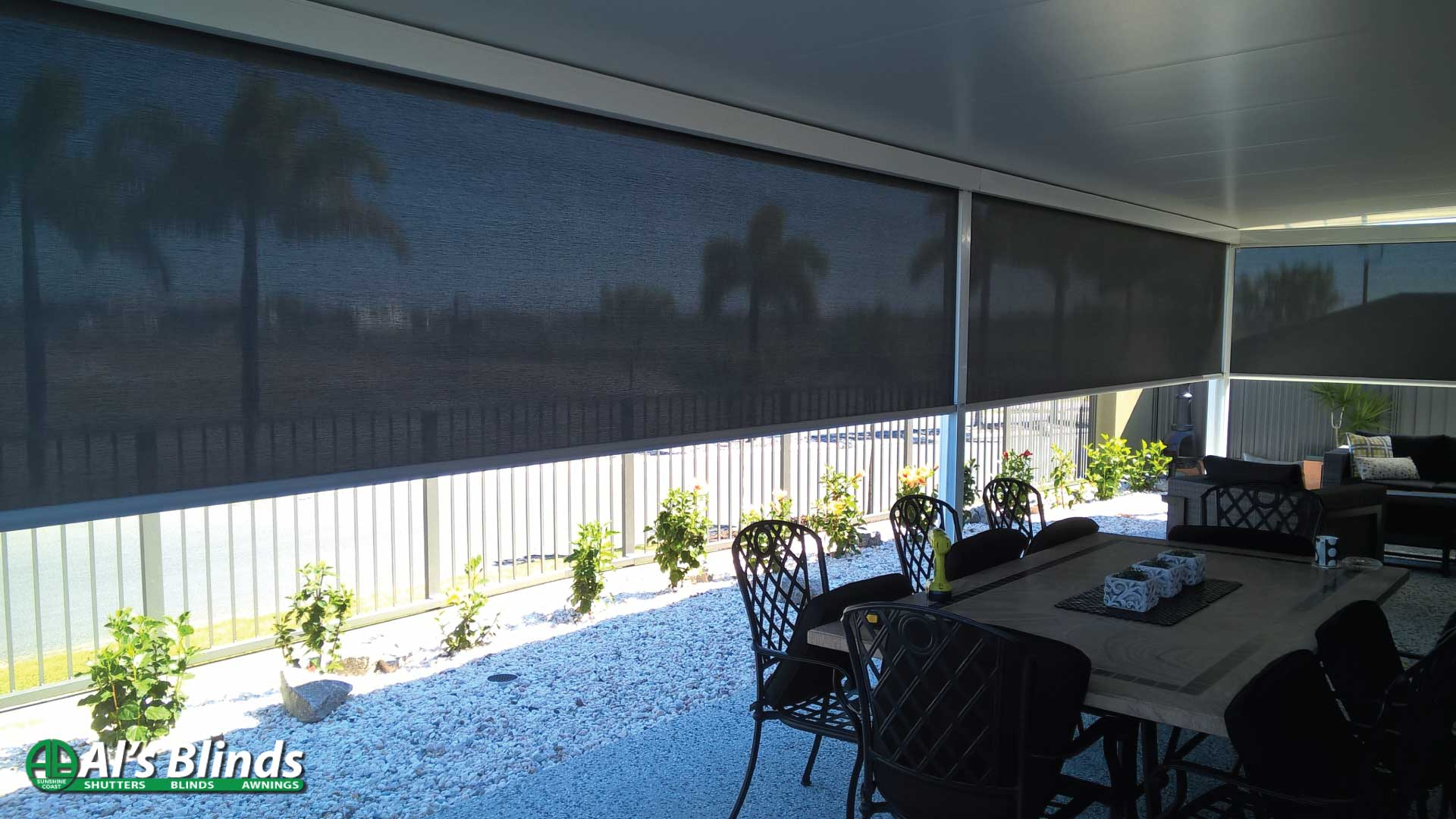 Channel Awnings with Block out Fabric