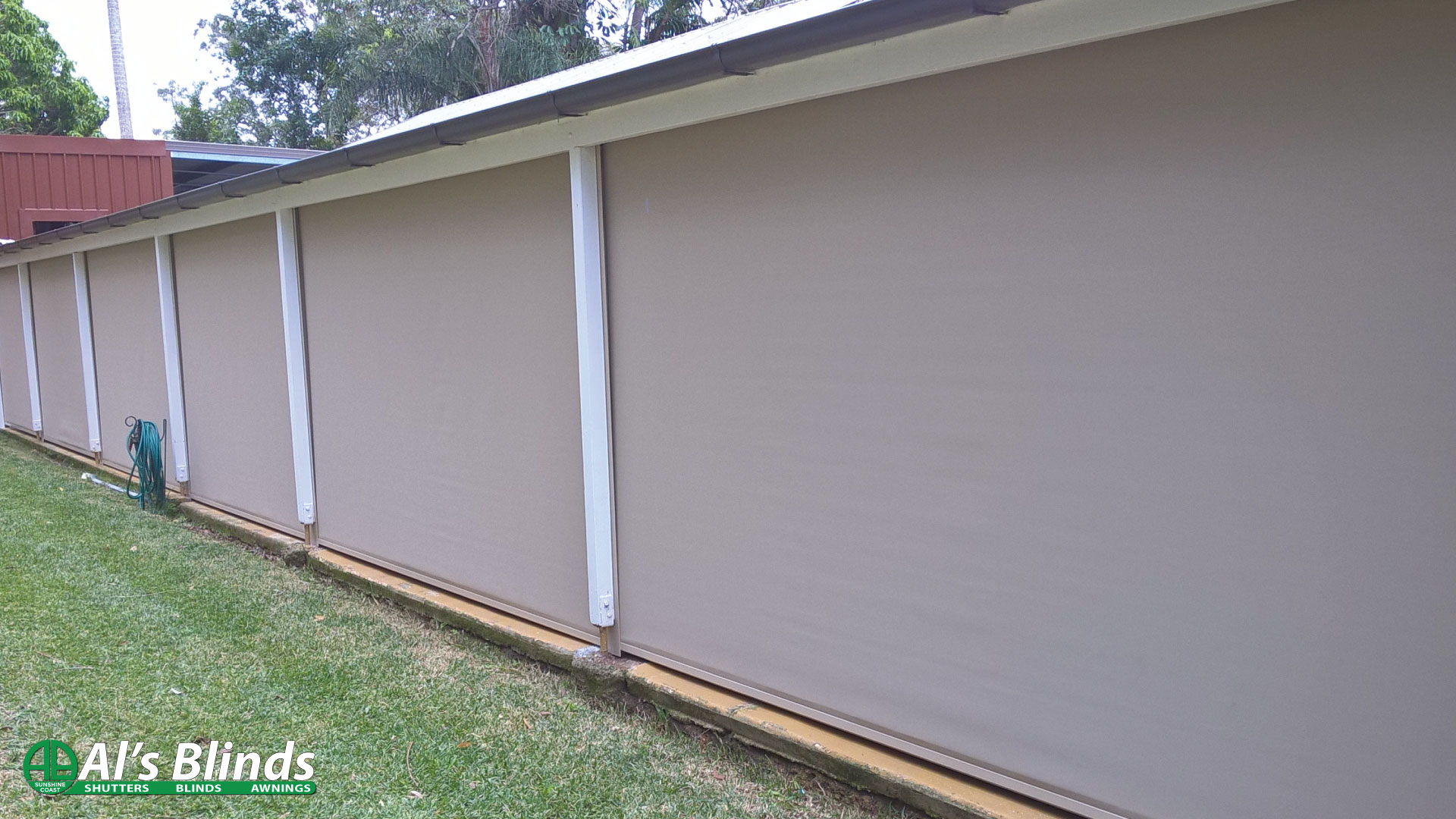 Side Channel Awnings with 95 percent Blockout Fabric