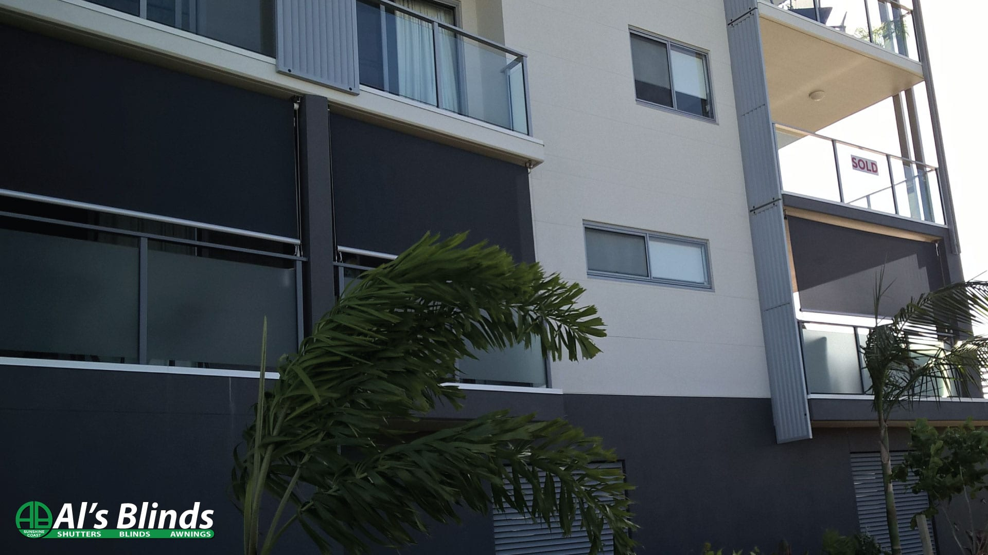 Side Channel Awnings with Blockout Fabric