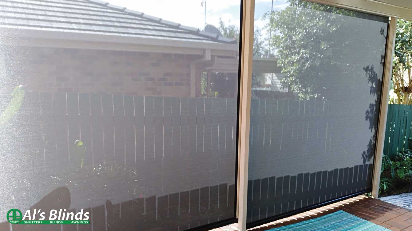 Ziptrak Awnings supplied by Al's Blinds on the Sunshine Coast