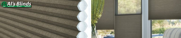 Window thermal insulation cellular blind feature image