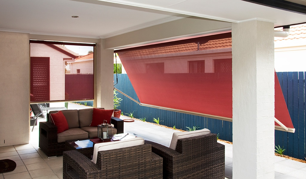 Sun protection with drop arm awnings from Al's Blinds sample image