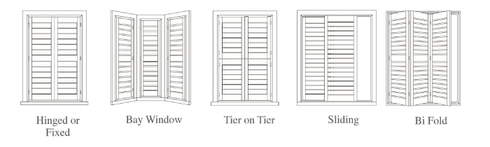 Available styles of Stylish shutters sunshine coast from Al's Blinds